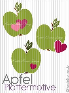 Apfel Plotterdateien von KerstinBremer.de
