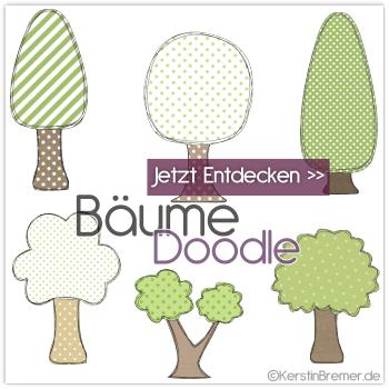Bäume Doodle Stickdateien von KerstinBremer.de