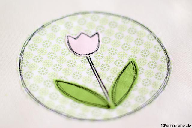 Tulpe Doodle Stickdatei