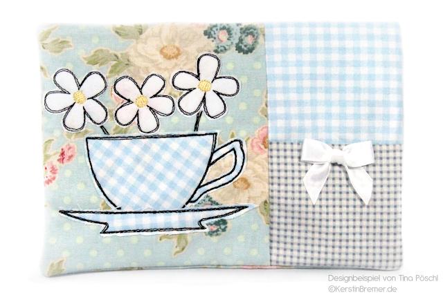 Tasse mit Blumen Designbeispiel Tina